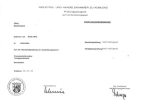 1993.01.28 Gensmann Jörg IHK Koblenz Gesellenbrief Kopie