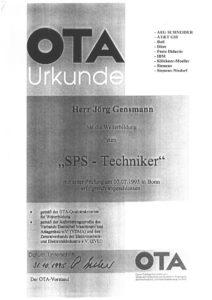 1995.10.31 Gensmann Jörg OTA SPS Techniker Kopie