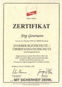 1997.10.22 Gensmann Jörg Dehn Innerer Überspannungsschutz Kopie