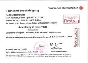 2018.11.02 Feilbach DRK Ersthelfer Kopie