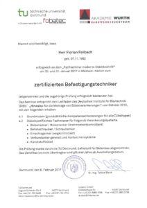 2017.02.08 Feilbach Zertifizierter Befestigungstechniker Würth